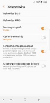 Samsung Galaxy S8 - Android Oreo - SMS - Como configurar o centro de mensagens -  7
