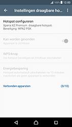 Sony Xperia XZ Premium (G8141) - WiFi - Mobiele hotspot instellen - Stap 7