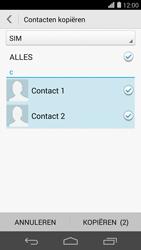 Huawei Ascend P7 4G (Model P7-L10) - Contacten en data - Contacten kopiëren van SIM naar toestel - Stap 9