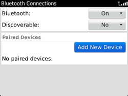 BlackBerry 9900 Bold Touch - Bluetooth - Pair with another device - Step 7