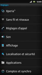 Sony ST25i Xperia U - Wifi - configuration manuelle - Étape 3