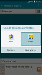Samsung Galaxy A3 - Mensajería - Escribir y enviar un mensaje multimedia - Paso 17