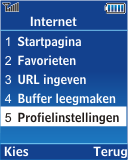 Samsung E2370 Megacell - Internet - Handmatig instellen - Stap 4