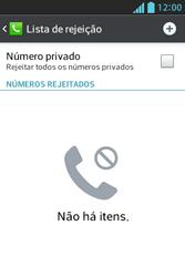 LG E612 Optimus L5 - Chamadas - Como bloquear chamadas de um número específico - Etapa 8
