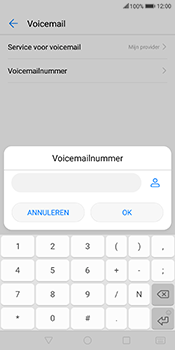 Huawei Mate 10 Lite (Model RNE-L21) - Voicemail - Handmatig instellen - Stap 8