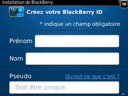 BlackBerry 9320 Curve - BlackBerry activation - BlackBerry ID activation - Étape 8