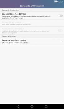 Huawei MediaPad T1 (7.0) - Device maintenance - Retour aux réglages usine - Étape 5