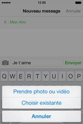 Apple iPhone 4 - Contact, Appels, SMS/MMS - Envoyer un MMS - Étape 9