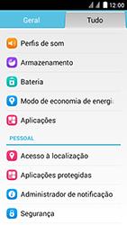 Huawei Ascend Y625 - Segurança - Como ativar o código de bloqueio do ecrã -  3