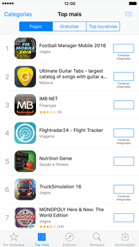 Apple iPhone 6s Plus - Aplicações - Como pesquisar e instalar aplicações -  6