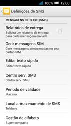 Alcatel POP C7 - SMS - Como configurar o centro de mensagens -  9
