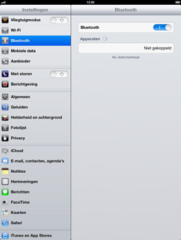 Apple iPad 4th generation - Bluetooth - koppelen met ander apparaat - Stap 7