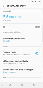 Samsung Galaxy S8 - Android Oreo - Internet no telemóvel - Como ativar os dados móveis -  7