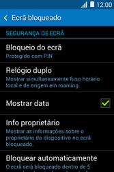 Samsung Galaxy Young II - Segurança - Como ativar o código de bloqueio do ecrã -  11