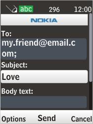 Nokia 6303i classic - E-mail - Sending emails - Step 10