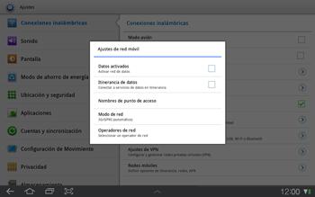 Samsung P7500 Galaxy Tab 10-1 - Mensajería - Configurar el equipo para mensajes multimedia - Paso 6