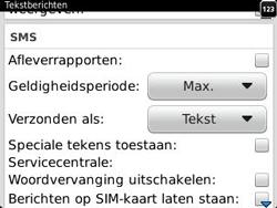 BlackBerry 9320 Curve - SMS - Handmatig instellen - Stap 5