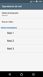 Sony Xperia XZ - Android Nougat - Red - Seleccionar una red - Paso 10