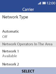 Nokia 8110 Banana - Network - Usage across the border - Step 9