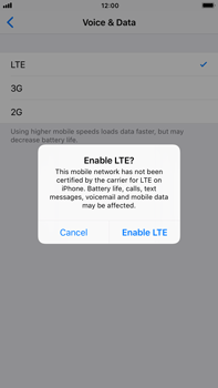 Apple Apple iPhone 6s Plus iOS 11 - Network - Enable 4G/LTE - Step 7