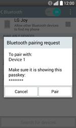 LG H220 Joy - WiFi and Bluetooth - Setup Bluetooth Pairing - Step 8