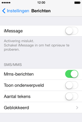 Apple iPhone 4 S iOS 7 - MMS - Handmatig instellen - Stap 12