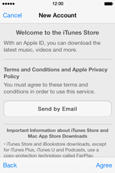 Apple iPhone 4 S iOS 7 - Applications - Create an account - Step 10