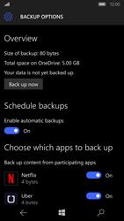 Microsoft Lumia 650 - Device maintenance - Create a backup of your data - Step 27