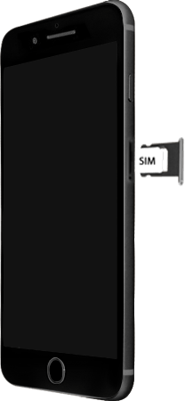 Apple iPhone 8 Plus - Premiers pas - Insérer la carte SIM - Étape 4