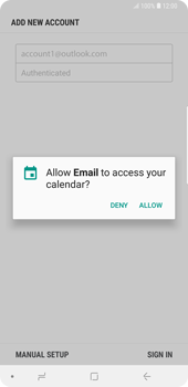 Samsung Galaxy Note9 - E-mail - Manual configuration (outlook) - Step 11