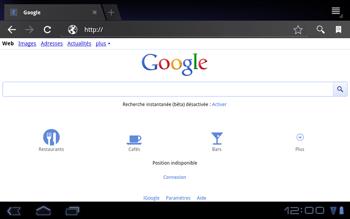 Huawei Mediapad S7-301u - Internet - Navigation sur internet - Étape 4