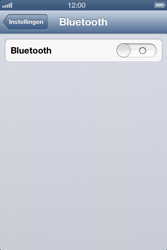 Apple iPhone 4S met iOS 6 (Model A1387) - Bluetooth - Aanzetten - Stap 3