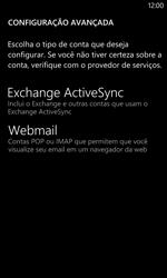 Nokia Lumia 1020 - Email - Como configurar seu celular para receber e enviar e-mails - Etapa 9