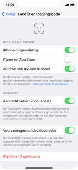 Apple iPhone X - Face ID en Animoji - Face ID uitschakelen - Stap 5