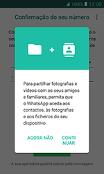 Samsung Galaxy Xcover 3 (G389) - Aplicações - Como configurar o WhatsApp -  6