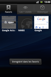 Sony Ericsson Xperia Mini Pro - Internet - navigation sur Internet - Étape 10