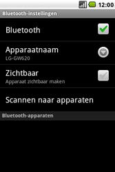 LG GW620 - Bluetooth - koppelen met ander apparaat - Stap 9