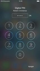 Apple iPhone iOS 9 - Funções básicas - Como reiniciar o aparelho - Etapa 7