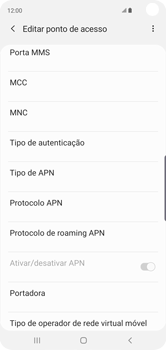 Samsung Galaxy S10 - Internet (APN) - Como configurar a internet do seu aparelho (APN Nextel) - Etapa 14