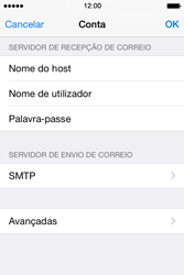 Apple iPhone 4S iOS 8 - Email - Configurar a conta de Email -  16