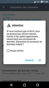 Sony Xperia XA1 Ultra - Internet et connexion - Désactiver la connexion Internet - Étape 6