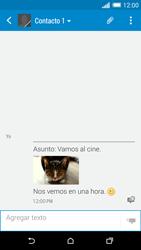 HTC One M8 - Mensajería - Escribir y enviar un mensaje multimedia - Paso 19