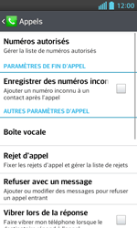 LG E460 Optimus L5 II - Messagerie vocale - configuration manuelle - Étape 6