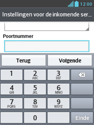 LG E430 Optimus L3 II - E-mail - Handmatig instellen - Stap 14