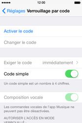 Apple iPhone 4S (iOS 8) - Sécuriser votre mobile - Activer le code de verrouillage - Étape 4