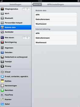 Apple iPad mini - Internet - Handmatig instellen - Stap 5