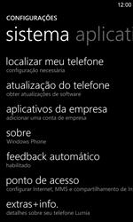 Nokia Lumia 920 - Funções básicas - Como restaurar as configurações originais do seu aparelho - Etapa 6