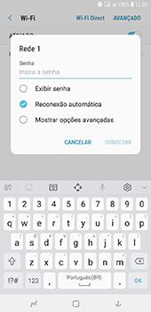 Samsung Galaxy J8 - Wi-Fi - Como configurar uma rede wi fi - Etapa 8