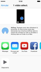 Apple iPhone 5s (iOS 8) - Photos, vidéos, musique - Créer une vidéo - Étape 9
