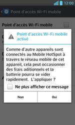 LG Optimus L5 II - Internet et connexion - Partager votre connexion en Wi-Fi - Étape 10